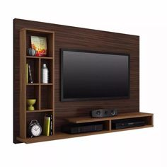 Living room tv wall modern design media consoles 32 ideas for 2019 Tv Cabinet Design, Tv Wall Design, House Design, Wall Tv Stand, Tv Stand Unit, Tv Stands, Tv Unit Decor, Tv Wall Decor, Tv Unit Interior Design