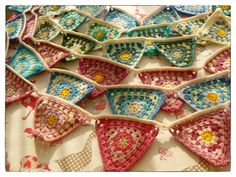 Granny Square Crochet Bunting