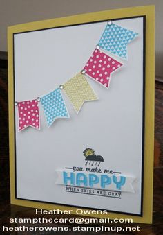 Sale-a-Bration 2014 Sneak Peak using See ya Later and Banner Blast from Stampin' Up!
