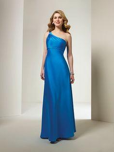 floor length satin dress