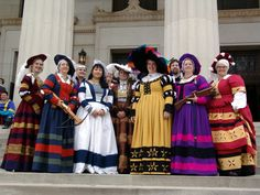 Picture of the female entourage (SCA/Ansteorra) at German themed Coronation for Jean Paul and Gilyan