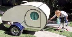 Introducing a Tiny Camper. Which one that you need will ride on your camper. Ultimately, the previous camper was down. The very small camper has a clever design that enables it . Gidget Retro Teardrop Camper, Teardrop Camper Interior, Teardrop Caravan, Tiny Camper, Small Campers, Teardrop Trailer, Teardrop Campers, Airstream Interior, Vintage Campers