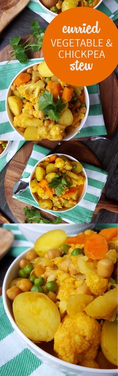 Curried Vegetable and Chickpea Stew - Easy, Vegan, Gluten-Free, One-Pot and Perfect for Cooler Weather!