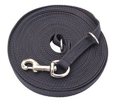 Vivi Bear Strong Nylon Pet Dogs Lead Training Walk Rope Leash 15Ft 20Ft Long Dog Leash Black -- To view further for this item, visit the image link.