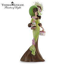 Thomas Kinkade Figurines Collection | Thomas Kinkade Elegant Woman Figurine Collection: Ladies Of Lamplight ...