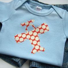 Cute Baby Boy Clothes // Airplane Applique Bodysuit by veryKIKI, $13.00