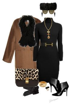 """""""'Brown & Black'"""" by shadedlady ❤ liked on Polyvore featuring MaxMara, Rumour London, Hermès, Warehouse, Kenneth Jay Lane, Monki, Oasis, Ted Baker, CÉLINE and Proenza Schouler"""