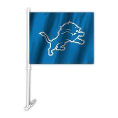 NFL Detroit Lions Primary Logo Car Flag