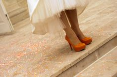 Chaussures orange