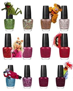 OPI Muppet's Collection. I want them ALL! 3 down, 6 to go!