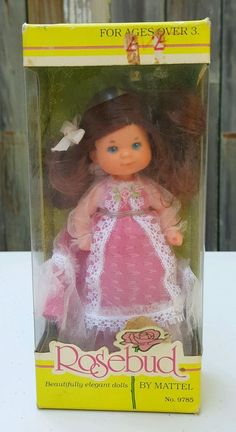Vintage 1976 Mattel ROSEBUD DOLL ~ # 9785 ~ Scarlet Gem Rose ~ Mint in Box NRFB #Mattel #Dolls #Rosebud