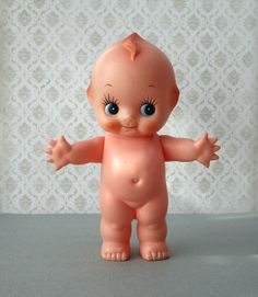 Cute kewpie doll by johnnyvintage on Etsy Cupie Dolls, Kewpie Doll, Kokeshi Dolls, Bts Doll, Mickey Mouse Doll, Trends 2016, Doll Tattoo, How Big Is Baby, Old Dolls