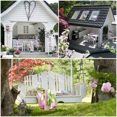 hage inspirasjon - Google-søk Porch Swing, Outdoor Furniture, Outdoor Decor, Garden, Home Decor, Haus, Garden Furniture Outlet, Homemade Home Decor, Garten