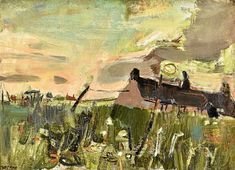 Artwork by painter Joan Eardley goes under the hammer for - Evening Express Abstract Landscape, Landscape Paintings, Landscapes, Gallery Of Modern Art, Art Gallery, Glasgow School Of Art, Oil Painting Abstract, Abstract Art, Artist Art