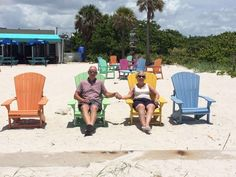 """My lovely Guests, the Woodison family, enjoying lunch on Boca Grande beach.  In his words """"it's paradise""""."""