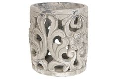 """9"""" Round Floral Pierced Pot on One Kings Lane today"""