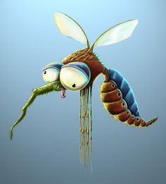Funny insects by Mateusz Szulik - Pondly - Cartoon Love Time 2020 Cute Animal Drawings, Cartoon Drawings, Cartoon Art, Cute Drawings, Character Illustration, Illustration Art, Cute Monsters, Monster Art, Whimsical Art