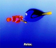 """Finding Nemo"" - Dory and Marlin. Disney Gifs, Disney Pixar, Film Disney, Disney Memes, Disney Love, Disney Magic, Disney Style, Dory And Marlin, Dory Finding Nemo"
