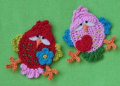 Crochet bird application - interesting eye lids