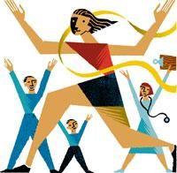 woman running, cheering, race, winning, finish line
