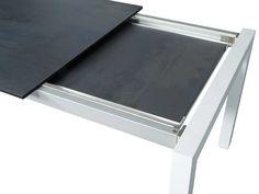 Stern Gartentisch/Ausziehtisch Aluminium weiß Silverstar Nitro 2 Größen kaufen im borono Online Shop