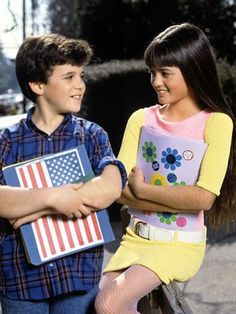 Kevin and Winnie from The Wonder Years!  AAAAH!