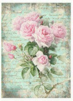 Vintage roses mini poster