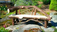 Wood And Stone Bench Diy Creative Ideas