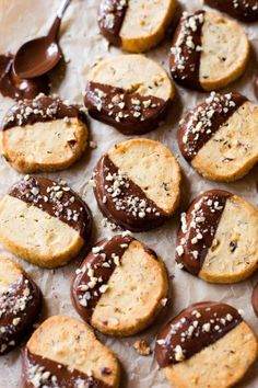 Toasted Hazelnut Slice N' Bake Cookies with Milk Chocolate | 25 Delicious Christmas Cookies Santa's Guaranteed To Love