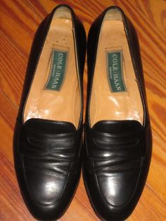 COLE HAAN 11 N BLACK LEATHER DRESS/CASUAL LOAFER-$25.00 #ColeHaan #LoafersSlipOns