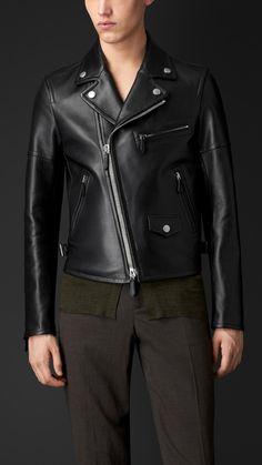 Blouson de motard en cuir | Burberry