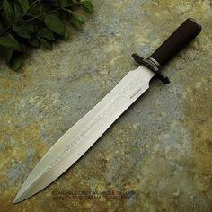 Michael Cody's CUSTOM HANDMADE DAGGER KNIFE - HUNTING - ENGRAVING- D2 STEEL