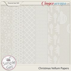 Christmas Vellum Papers