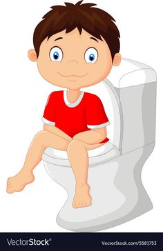 Little boy sitting on the toilet Royalty Free Vector Image Autism Learning, Preschool Learning, Educational Activities, Preschool Activities, Teaching Kids, Body Preschool, Kindergarten Portfolio, Flashcards For Kids, Learning English For Kids