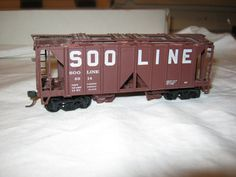 HO Scale Soo Line Covered Hopper 6914  shorty by CrustysToyshop, $7.99