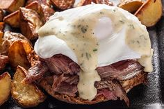 Steak and Eggs Benedict with Béarnaise Sauce - Substitute with Gluten Free Engl. - Steak and Eggs Benedict with Béarnaise Sauce – Substitute with Gluten Free English Muffins. Egg Recipes, Sauce Recipes, Brunch Recipes, Cooking Recipes, Brunch Foods, Steak Recipes, Dinner Recipes, Breakfast Desayunos, Breakfast Dishes
