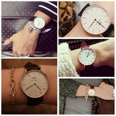 Daniel Wellington watches for women. Simple, classy and elegant. This is how watches ought to be!