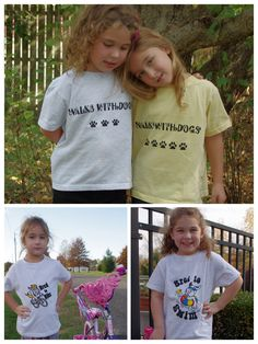 Kids and dogs.  It doesn't get any cuter than that.  Gingybeans offers a wide variety of designs on kids t-shirts.  Sizes 2T - 7.