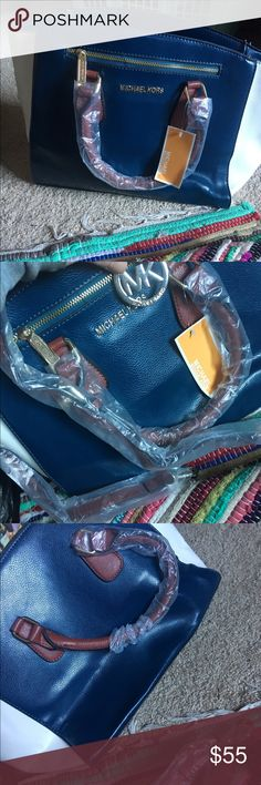 White and blue purse New with tags and plastic on purse Bags