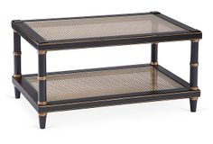 Jessa Coffee Table, Black/Natural   One Kings Lane   This Caned Coffee Table