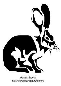 rabbit-image.gif (1200×1683) Rabbit Stencil