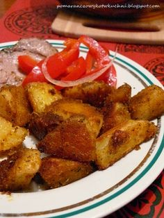Pomarańczowy Kot w kuchni...: pieczone ziemniaki (bardzo chrupiące)