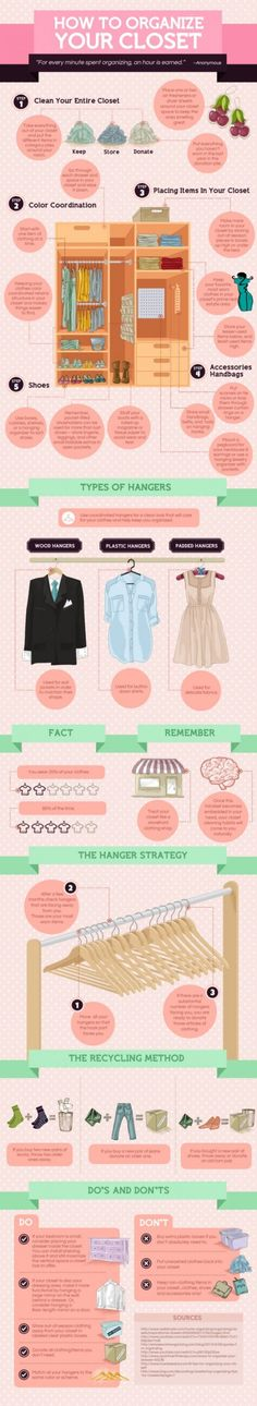 How to Organize Your Closet #Infographics #DIY #howto — Framed Lightscap3s, LLC