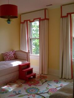 Girls room- LOVE these curtains!!!!