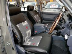 ランクル80用シートカバー装着例(サンミゲルグレー) Toyota Landcruiser80 PENDLETON Seat cover