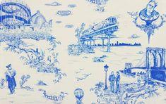 Brooklyn Toile Wallpaper designed by Beastie Boy Mike D