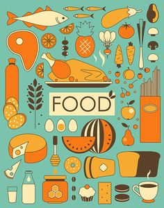Food and kitchen illustrations on Behance