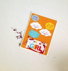 CUSTOM 10 Baby Gender Announcement Scratch Off Ticket. $10,00, via Etsy.