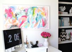 pretty art above your desk.