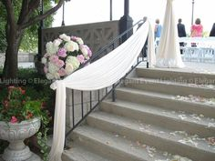 wedding drapery railings - Google Search